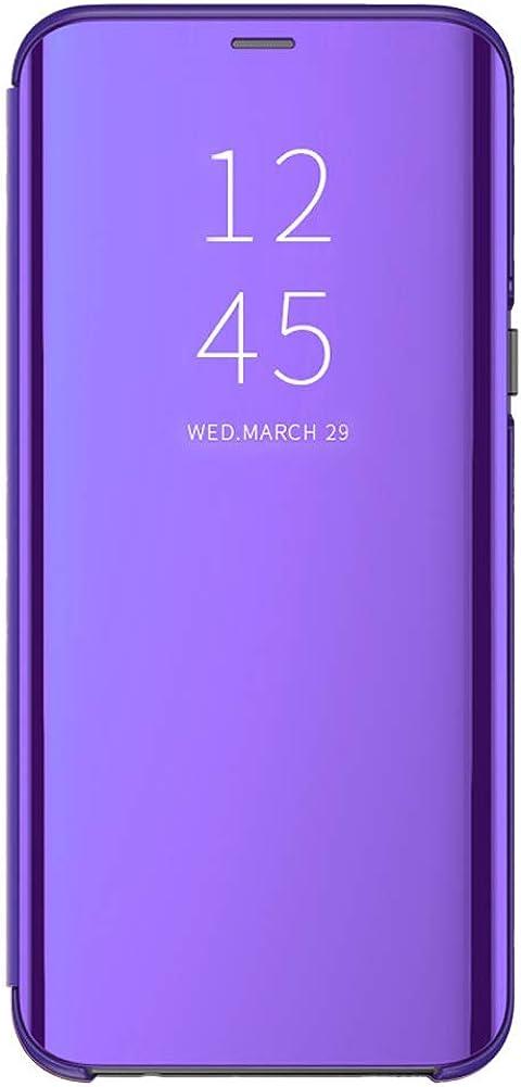 Espejo Funda Compatible con P20/P20 Pro/P20 Lite Huawei Carcasa Mirror Flip Caso Translucent Window View Protector Shock Caja del Teléfono