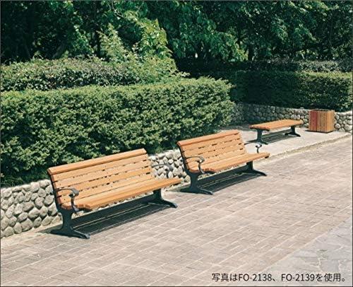 天然木ベンチ 肘なし 2人掛け 180cm幅 屋外 防腐 オフィス 施設 公園 ナチュラル