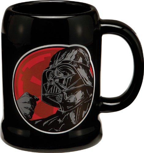 Vandor 99279 Star Wars Darth Vader 20 oz Ceramic Stein, Black, Red,...