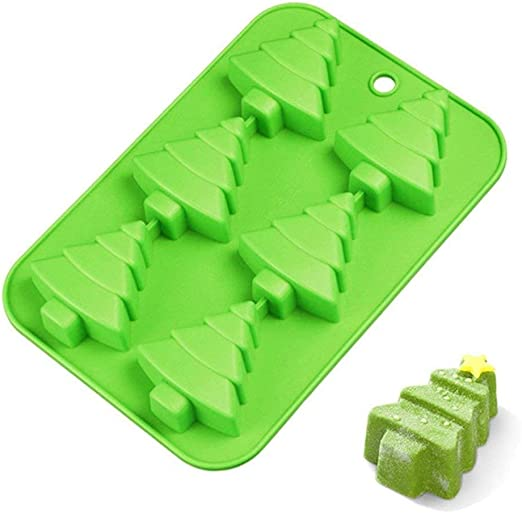 Christmas Tree Silicone Cake Baking Mold Pan Soap Moulds Biscuit Chocolate Tray