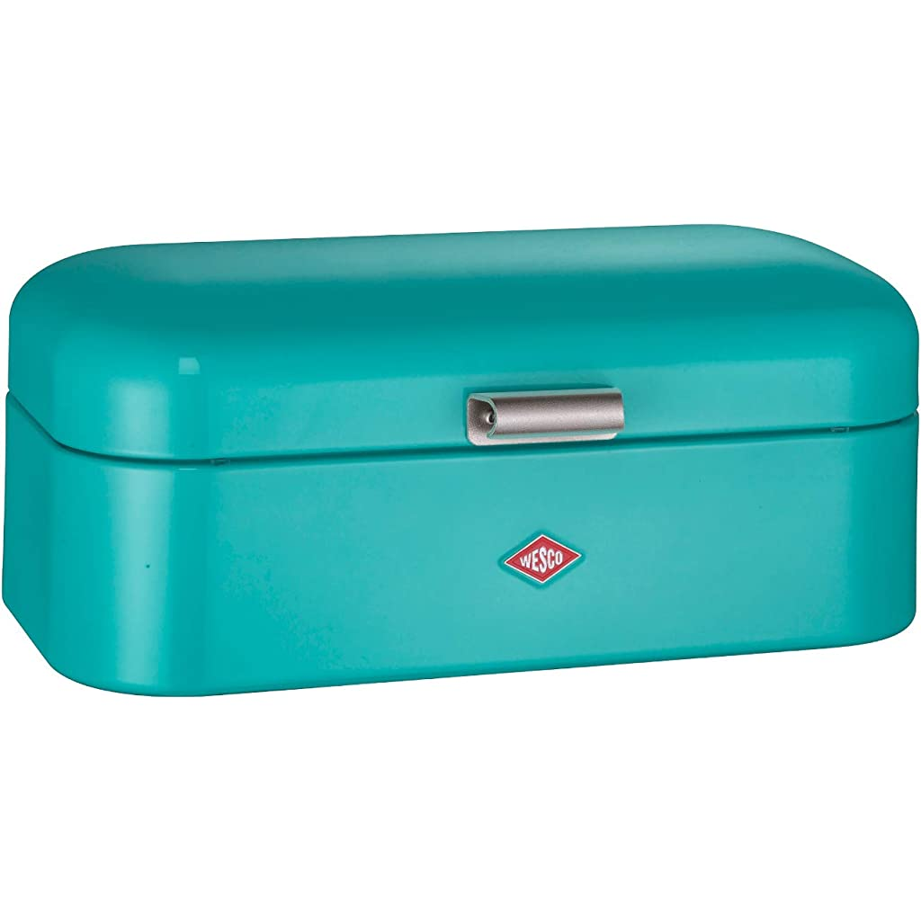 Wesco Grandy Large Turquoise Teal Blue Bread Bin