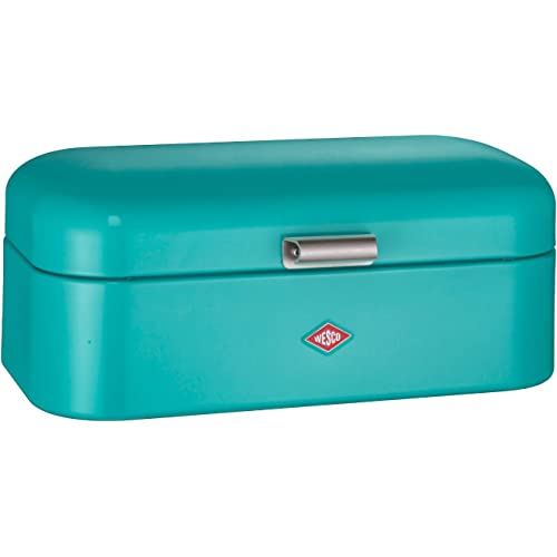 Wesco Grandy Large Turquoise Teal Blue Bread Bin