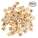 vintage scrabble tiles - Scrabble Tiles Wood Craft Letters Word Tiles For Scrap booking/ Letter A-Z Alphabet Pendant Piece 500 Pieces