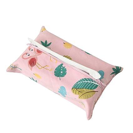 Leisial - Caja de pañuelos de lino con forma de sauce para decoración de pañuelos,