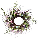 Easter Egg Floral Twig Wreath - 24""