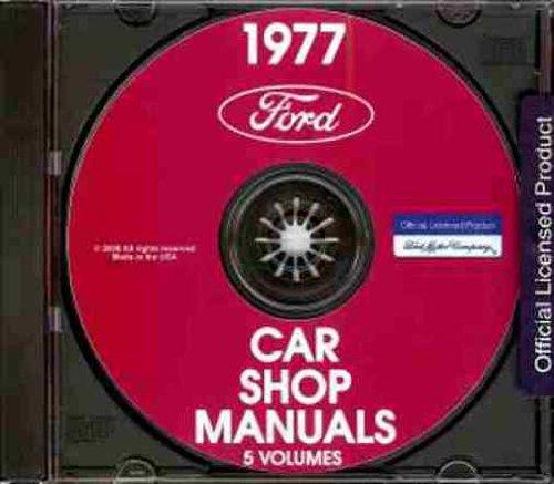 - 1977 FORD REPAIR SHOP & SERVICE MANUAL CD - Pinto, Mustang II, Mustang II Mach I, Mustang II Ghia, Maverick, Granada, LTD II, LTD Brougham, Ford Custom 500, Ford LTD, Ford LTD Landau, Thunderbird 77