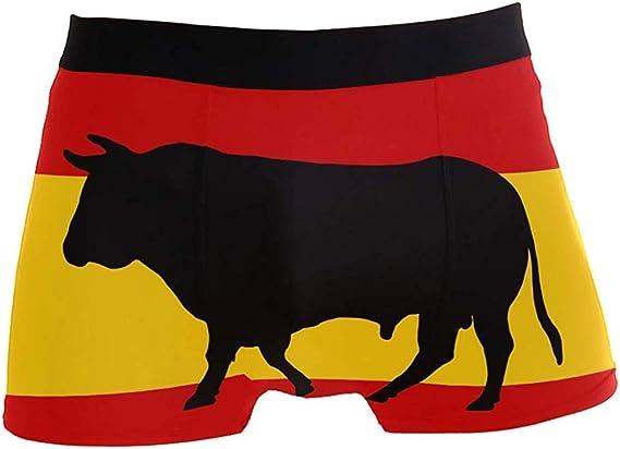 NA Bandera española Taurina Calzoncillos bóxer para Hombre Ropa Interior Calzoncillos Transpirables y elásticos: Amazon.es: Ropa y accesorios