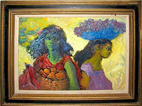 Burnett Canvas Painting (Two Market Women)