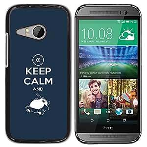 GIFT CHOICE / SmartPhone Carcasa Teléfono móvil Funda de protección Duro Caso Case para HTC ONE MINI 2 / M8 MINI /FUNNY - KEEP CALM AND ZZZ/