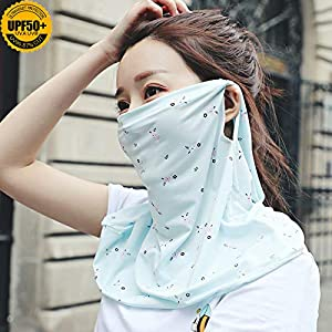 CHAMER Mask, Neck Gaiter Shield Scarf Balaclava Bandana Sun Protection UPF 50+UV Protective Cool Ice Silk Fabric Breathable Lightweight for Women Girls Outdoor Running Drive Golf