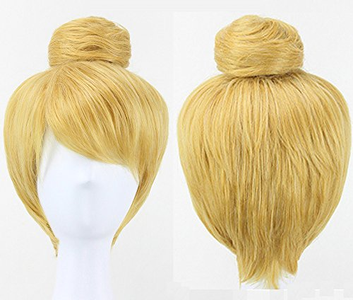 Anogol Hair Cap+ Women's Movie Tinker Bell Cosplay Wig DM-391