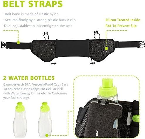 GamutTek Hidratación cinturón con botellas de agua: #1 mejor recomendado corriendo combustible cinturón para hombres y mujeres perfectos para ...