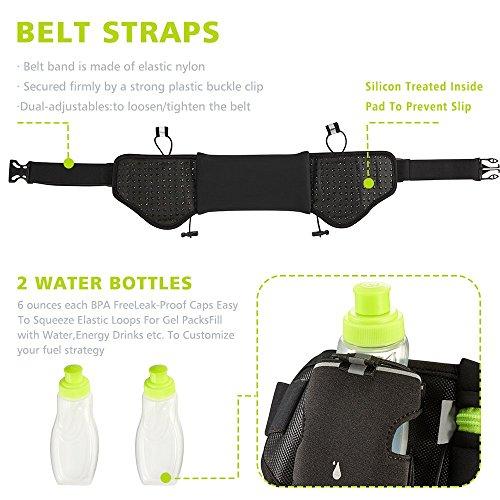 GamutTek Hidratación cinturón con botellas de agua   1 mejor recomendado  corriendo combustible cinturón para hombres y mujeres perfectos para  maratones 92c0c18e67d1