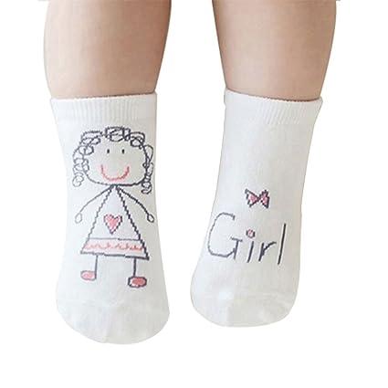 Gespout Calcetines Niñas Niños Bebés Algodón Calcetines Térmicos Párrafo Corto para Chica Otoño Cómodo Infancia Antideslizantes