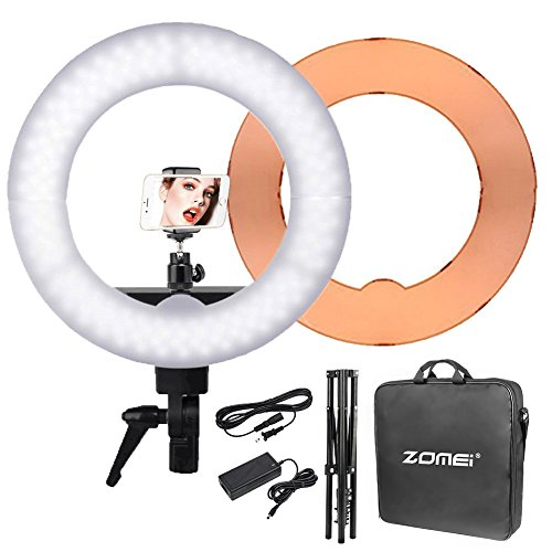 Zomei 18-inch LED Ring Light 55W 5500K Lighting Kit with Ball Head and Phone adapter for Camera Smartphone Youtube Video Shooting by ZOMEI