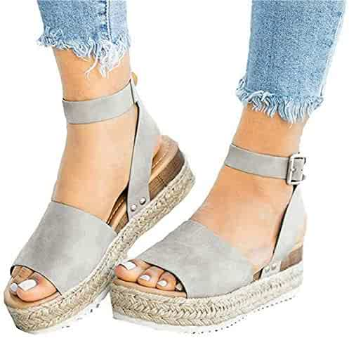 e3176acfa43 Shopping 3 Stars & Up - Grey - Platforms & Wedges - Sandals - Shoes ...