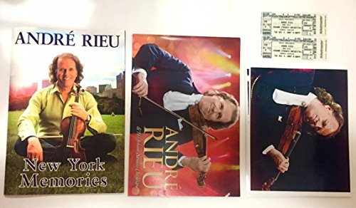 2 Collectible 9X13 Andre Rieu Photo Tour Books : 20 Page New York Memories & 20 Page Johann Strauss Orchestra + 2 Used Tickets + Unknown Photos