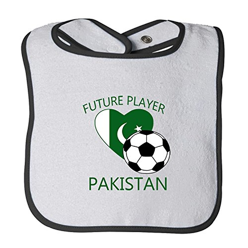 Cute Rascals Future Soccer Player Pakistan Tot Contrast Trim Terry Bib - About Pakistan All For Kids