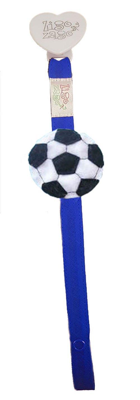 Zigozago - para chupete azul con balón de fútbol: Amazon.es ...