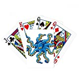 Blue Octopus Marine Life Cartoon Pattern Poker Playing Card Tabletop Board Game Gift