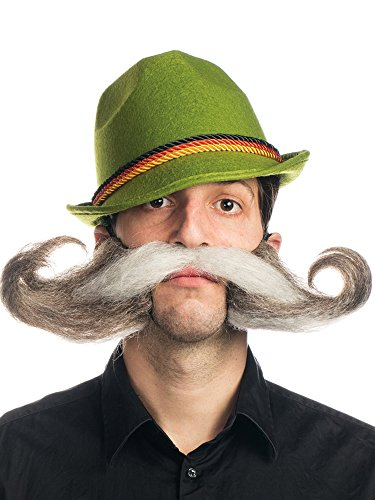 [Mr. Oktoberfest Moustache] (Oktoberfest Costumes Hat)