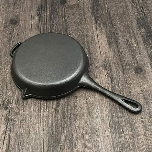 16LYP Fonte épaisse friture pot steak rayé poêle non couché antiadhésif barbecue pot pot sauvage