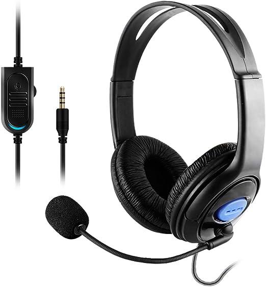 Huiingwen - Auriculares para PS4 (estéreo, con cable, con micrófono, para Playstation 4 Gamers): Amazon.es: Hogar
