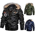 Homme Hiver Chaud Casual Manteau Armée Aviateur Bomber Militaire Blouson Jacket Veste Homme à Capuche Amovible,L… 11