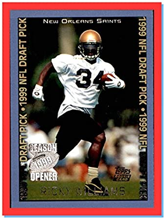 1999 Topps Season Opener #149 Ricky Williams RC Rookie NEW ORLEANS