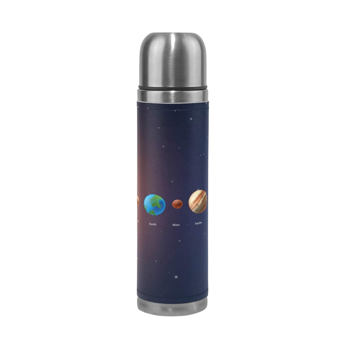 imobaby Classic Solar System Leak Proof Water Bottle Insulated Double Vacuum Stainless Steel Thermos 500ML