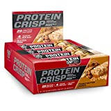BSN Protein Crisp Bar by Syntha-6, Low Sugar Whey Protein Bar, 20g of Protein, Peanut Butter Crunch, 12 Count (Packaging may vary) For Sale