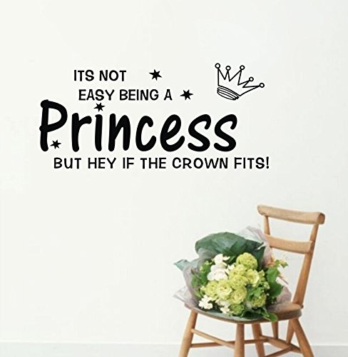 YINGKAI Its Not Easy Being A Princess...Warmly Poem Quotes Living Room DIY Vinyl Wall Decal Stickers For Home Decor
