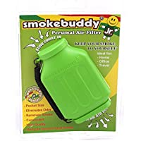 Smoke Buddy Junior Lime Green Whole Box of 12 Personal Air Filter / Purifier Brand New with Free Im Baked Bro & Doob Tubes Sticker