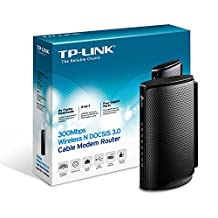 TP-LINK N300 DOCSIS 3.0 (8x4) Wireless Wi-Fi Cable Modem Router, Certified for Comcast, Time Warner Cable, and Cablevision (TC-W7960)