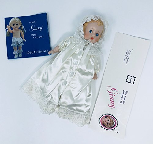 "Vintage Collectible Vogue Ginnette porcelain baby doll 9"" 1984 - Jointed"