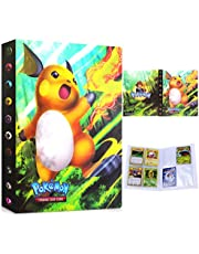 Pokemon kaartenhouder album map boek, Pokémon verzamelalbum, Pokémon kaarten album, 30 pagina's 240 kaarten capaciteit (Raichu)