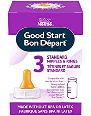 Good Start Standard Nipples and Rings, 3 Count