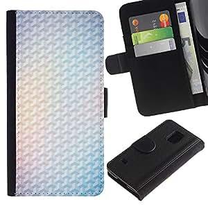 For Samsung Galaxy S5 V SM-G900,S-type® Yellow 3D Polygon White Minimalist Clean - Dibujo PU billetera de cuero Funda Case Caso de la piel de la bolsa protectora