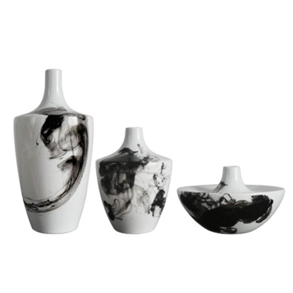 セラミック花瓶、高温セラミックモダンスタイルドライフラワーアレンジメントホームデコレーションオフィスとリビングルーム理想的なギフト B07SJBTZWV
