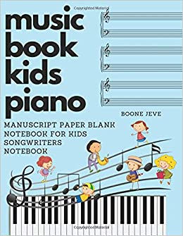 Amazoncom Music Book Kids Piano Manuscript Paper Blank