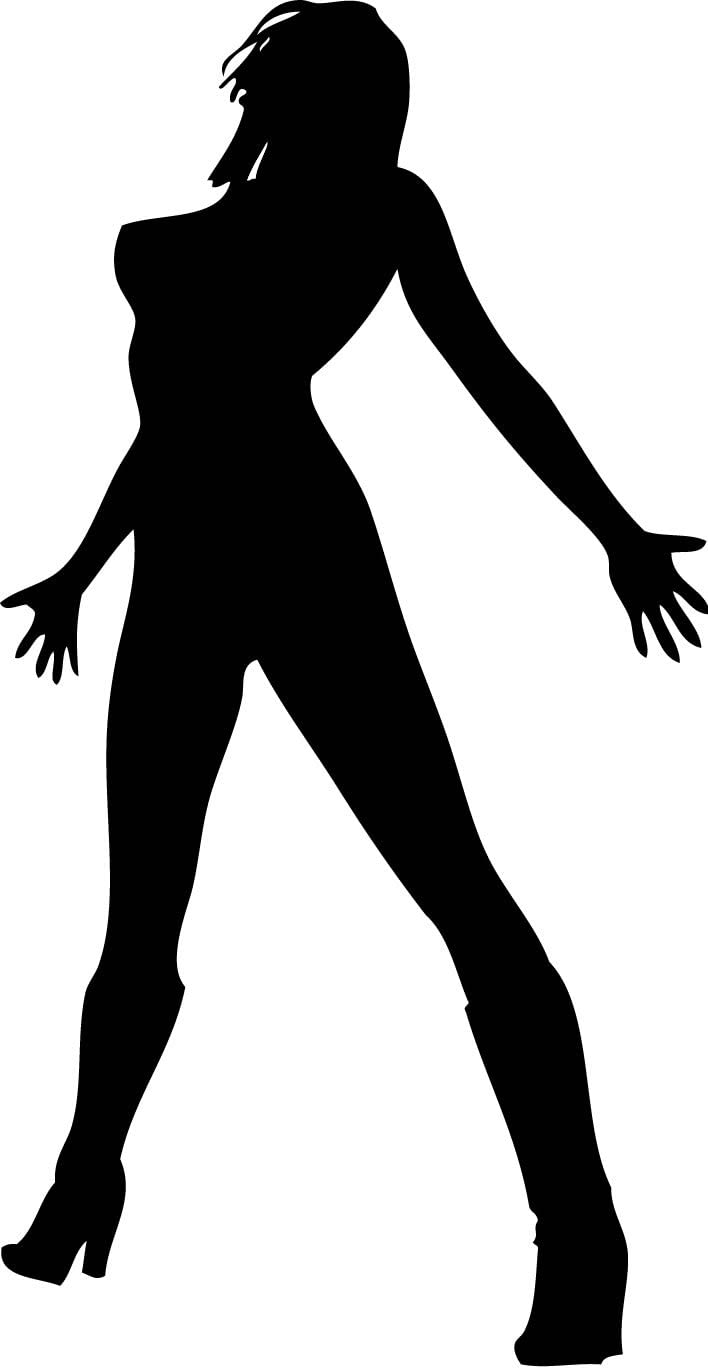 Amazon Com Sexy Women Silhouette Wall Decals Woman Attractive