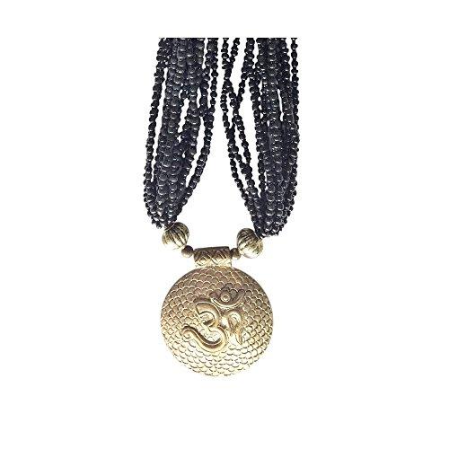 OM 'Spiritual Awakening' Pendant Chakra Necklace For Spiritual Yoga Meditation Reiki Religious Hindu Diwali Jewellery Sent In BellaMira Retail Gift Bpx by BellaMira