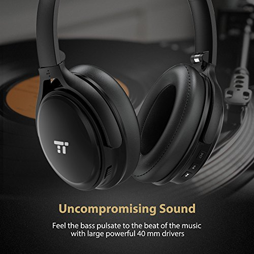 TaoTronics-Active-Noise-Cancelling-Bluetooth-Headphones-Over-Ear-Wireless-Headset-Dual-40-mm-Drivers-with-Powerful-Bass-25-Hour-Playtime-cVc-60-Noise-Cancelling-Mic-aptX-High-Clarity-Sound