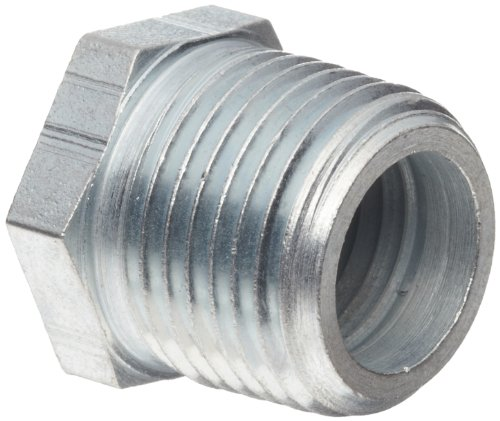 Dixon 5406-6-4 Zinc Plated Steel Hydraulic Pipe Fitting, Hex Reducer Bushing, 3/8