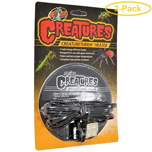 Zoo Med Creatures CreatureTherm Heater 4 Watt - Pack of 3 by Zoo Med
