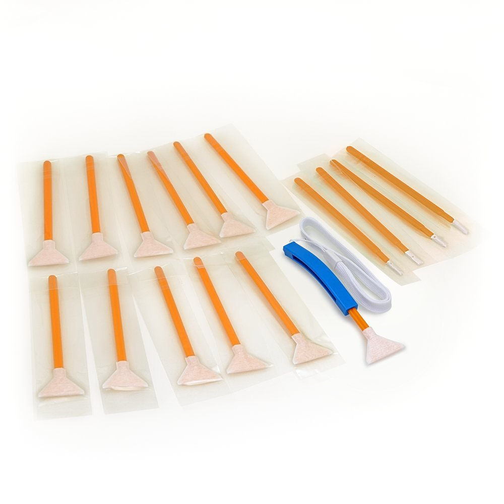 Sensor Cleaning swabs Vswabs DHAP Orange 1.6x/16 mm 12 per Pack with Bonus CurVswab and Corner Swabs VisibleDust VD-2863166-1