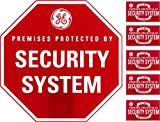 GE SmartHome Security Sign with Yard Stake and Window Decals, Home Protection Warning, Premises Protected by Security System, 45400