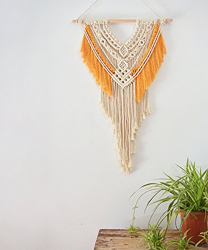 Macrame Wall Hanging Tapestry Hand Woven Boho 18''WX27.6''L Macrame Decoration House Ceremony Living Room Home Furnishing Accessories by Vesna Wall Art (Image #1)