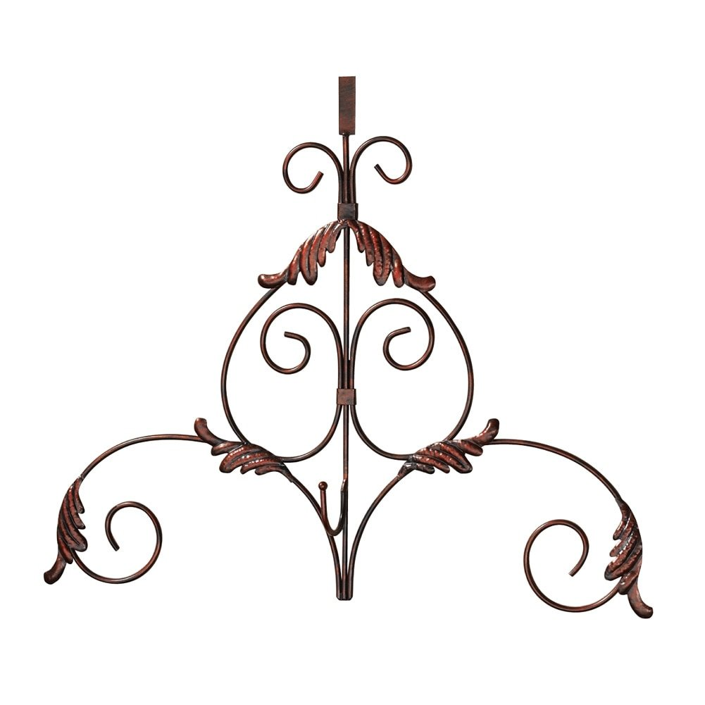 Decorative Scroll Metal Holiday Wreath Hanger