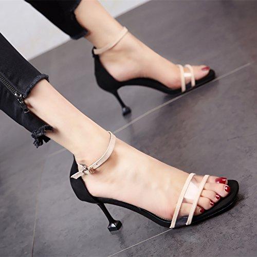 9864799f De alta calidad YMFIE Bola para Boda Fiesta moda zapatos de tacón verano  elegante temperamento dedos
